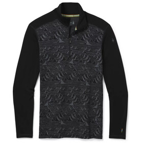 Smartwool Merino 250 Pattern 1/4 Zip Baselayer Boxed Men, black/bryan iguchi mountains